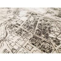 Stadtplan Tokio | Wanddekoration Holz