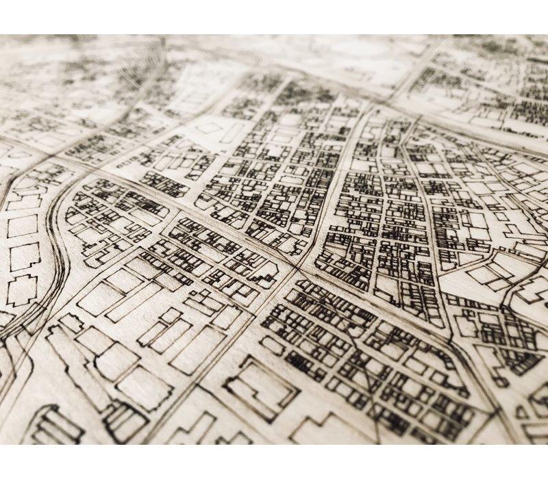 WOODEN WALL DECORATION TOKYO CITYMAP