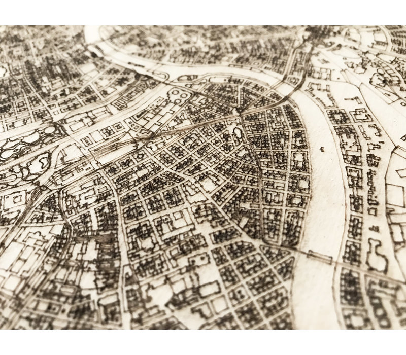 Citymap Wenen | houten wanddecoratie