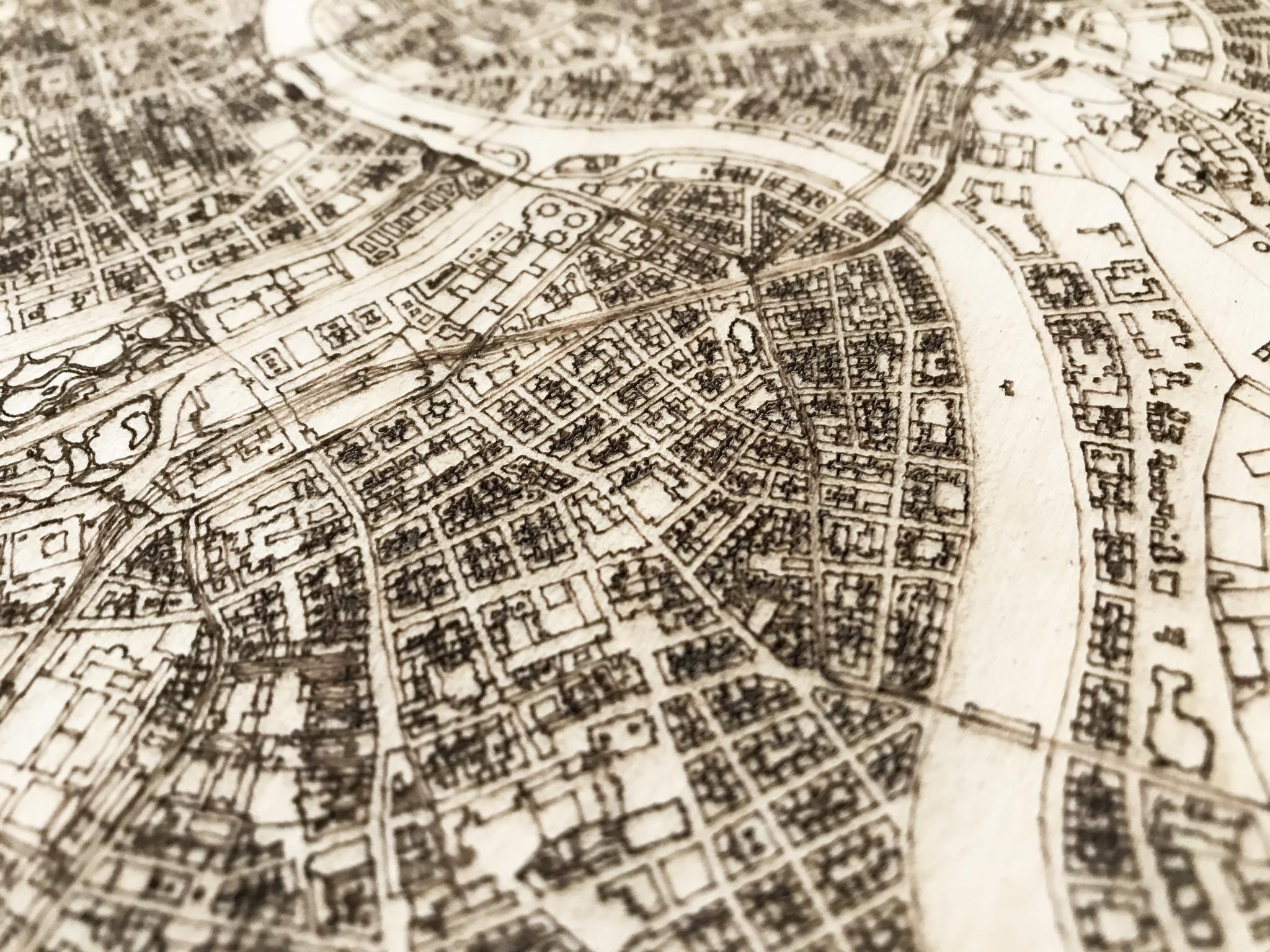 Citymap Wenen | houten wanddecoratie-3