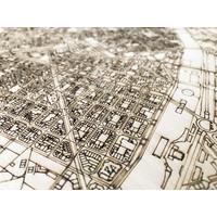Citymap Valencia | houten wanddecoratie