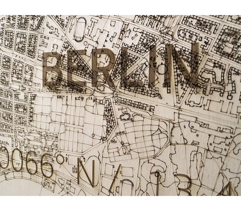 WOODEN WALL DECORATION BERLIN CITYMAP