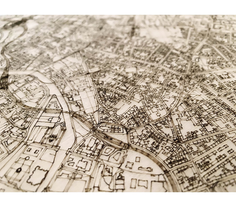 Citymap Berlijn | houten wanddecoratie