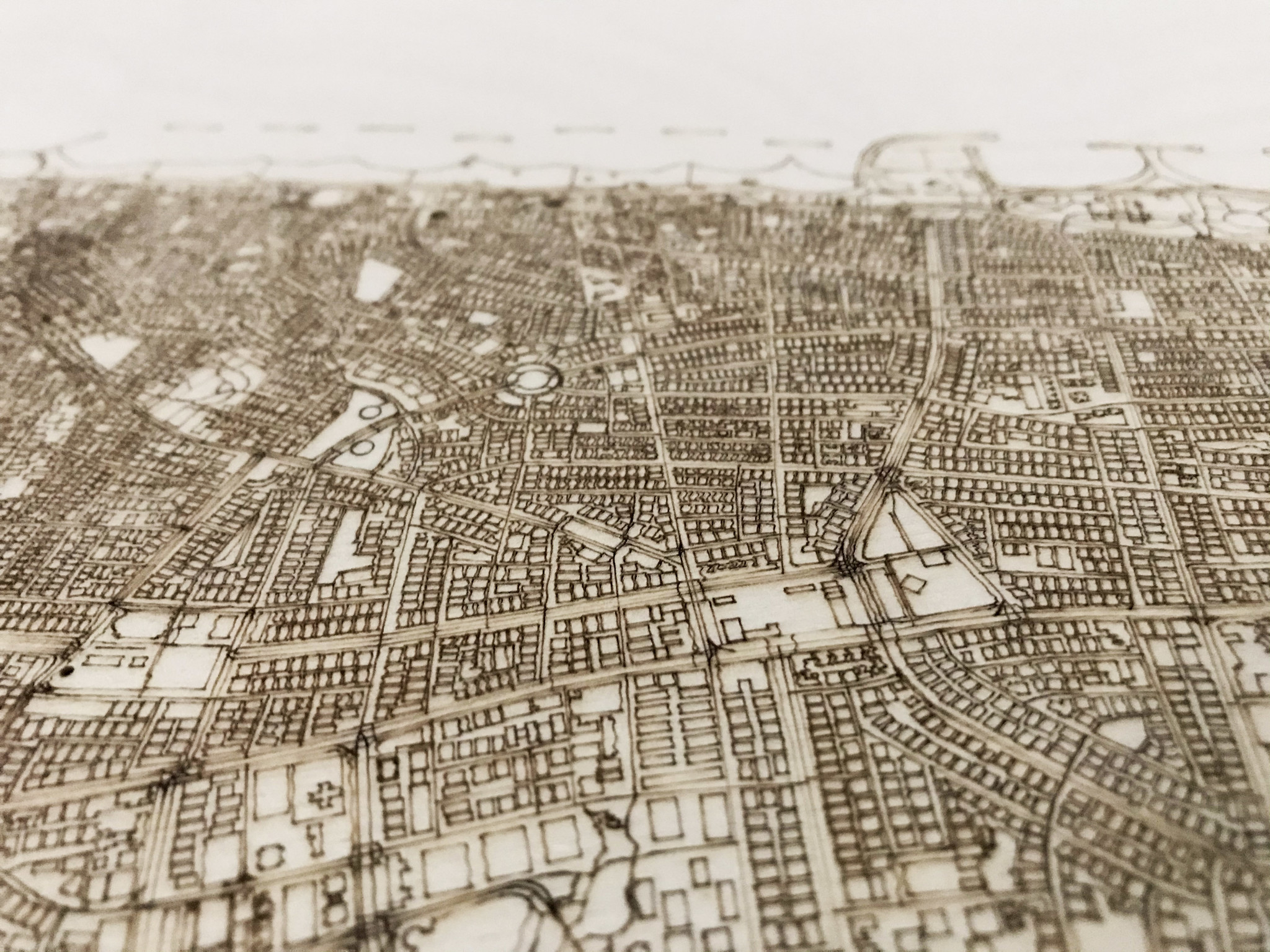 Stadtplan Tel Aviv | Wanddekoration Holz-3