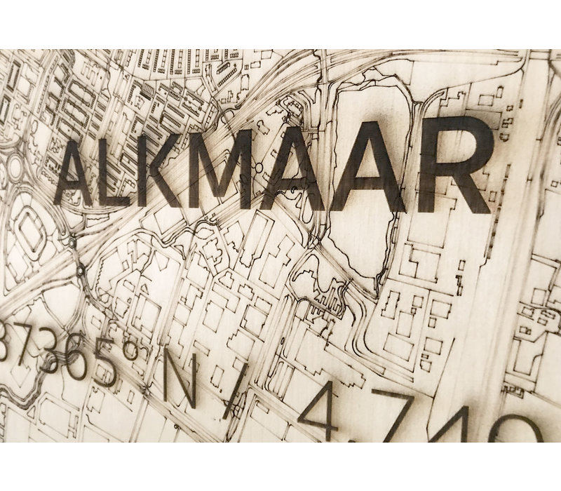 Citymap Alkmaar | wooden wall decoration