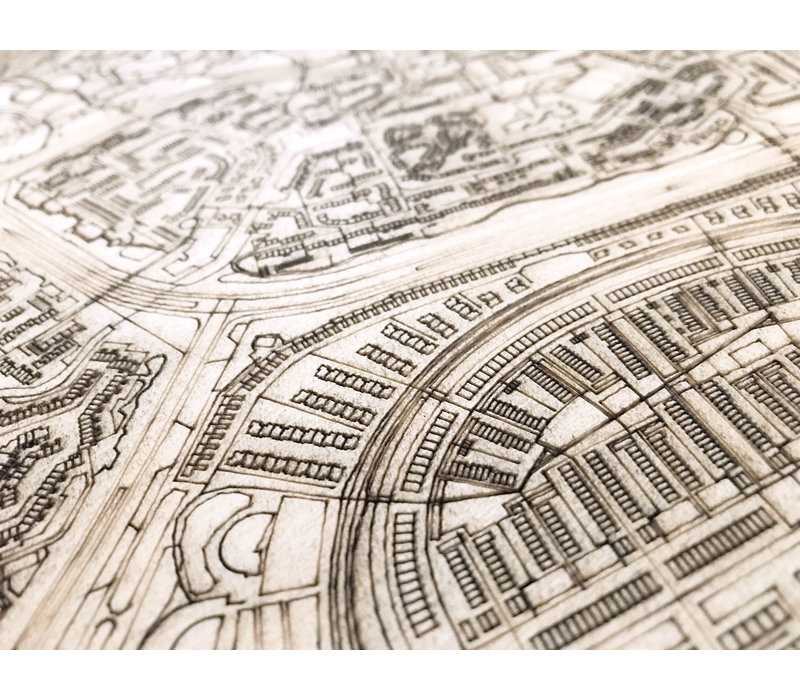 Citymap Alkmaar | houten wanddecoratie