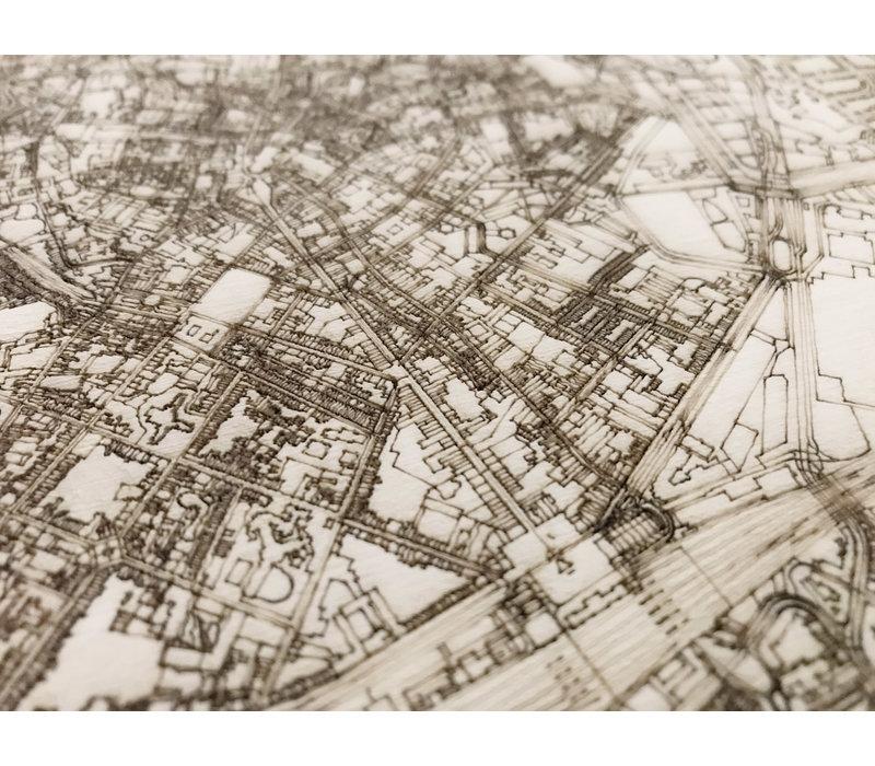 Citymap Leuven | wooden wall decoration