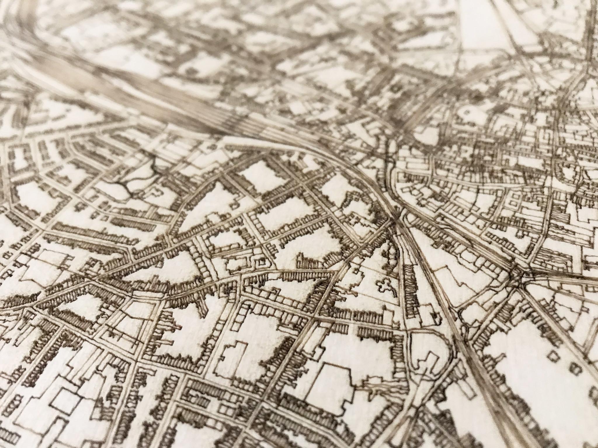 Citymap Hasselt | houten wanddecoratie-4