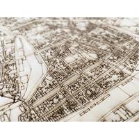 HOUTEN WANDDECORATIE ENKHUIZEN CITYMAP