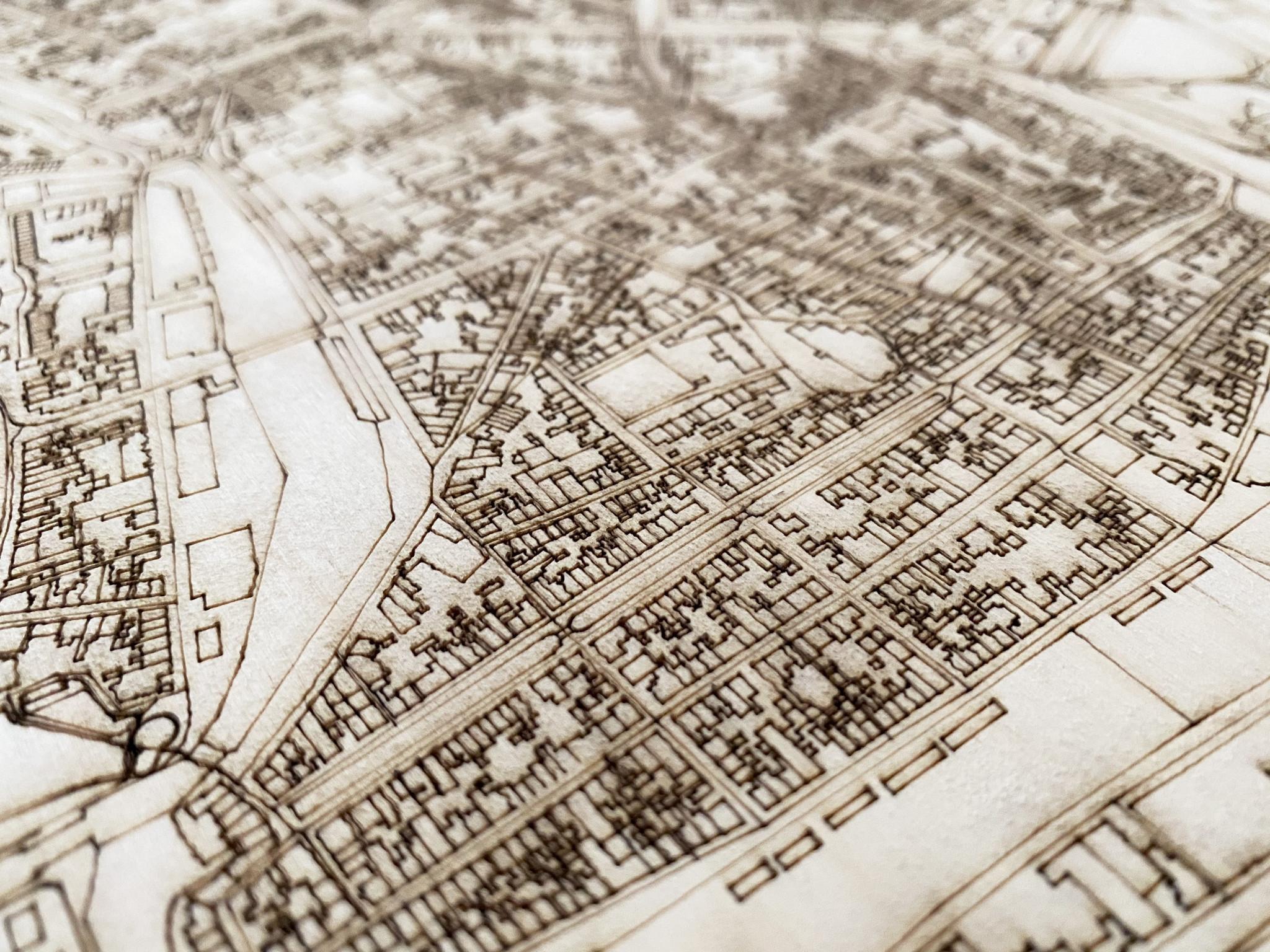 HOUTEN WANDDECORATIE ENKHUIZEN CITYMAP-3