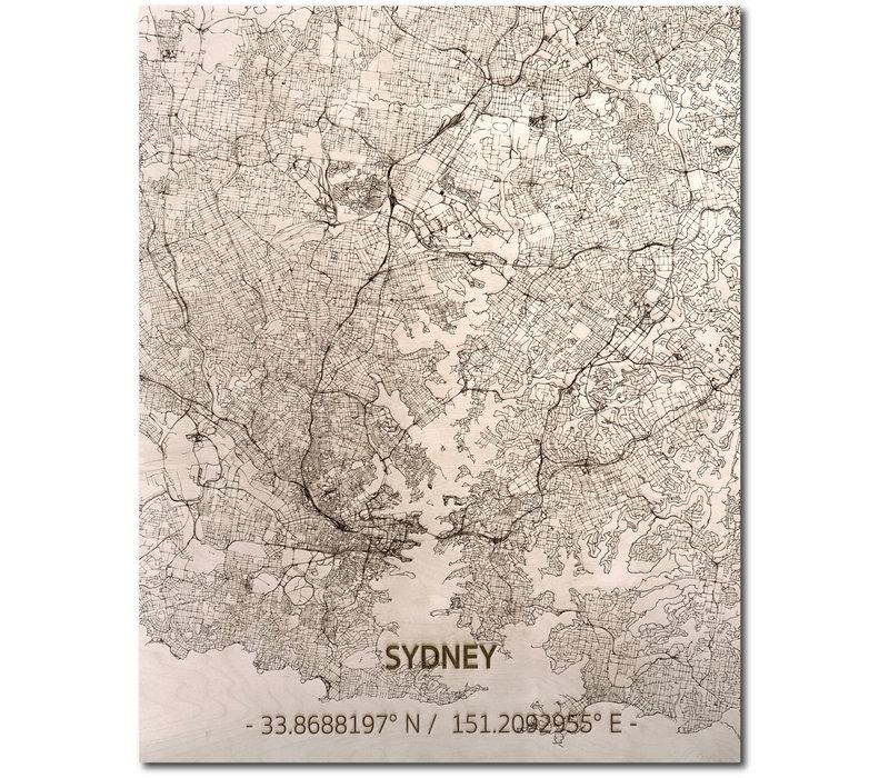 WOODEN WALL DECORATION SYDNEY CITYMAP