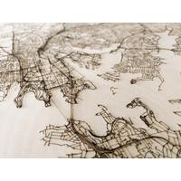 Citymap Sydney | houten wanddecoratie