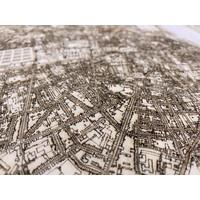 Stadtplan Bordeaux | Wanddekoration Holz