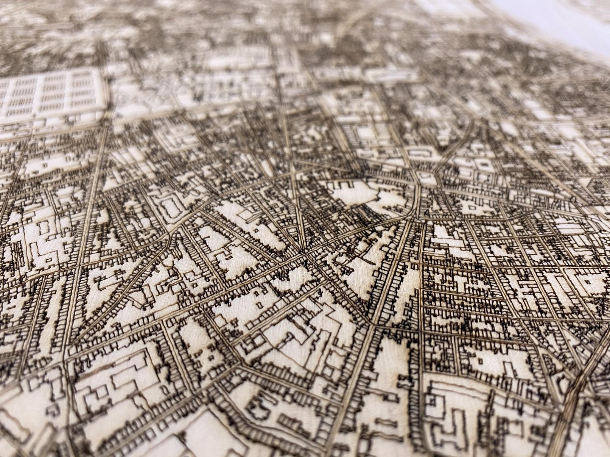 Citymap Bordeaux | houten wanddecoratie-4