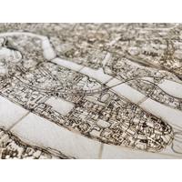 Citymap Nantes | wooden wall decoration
