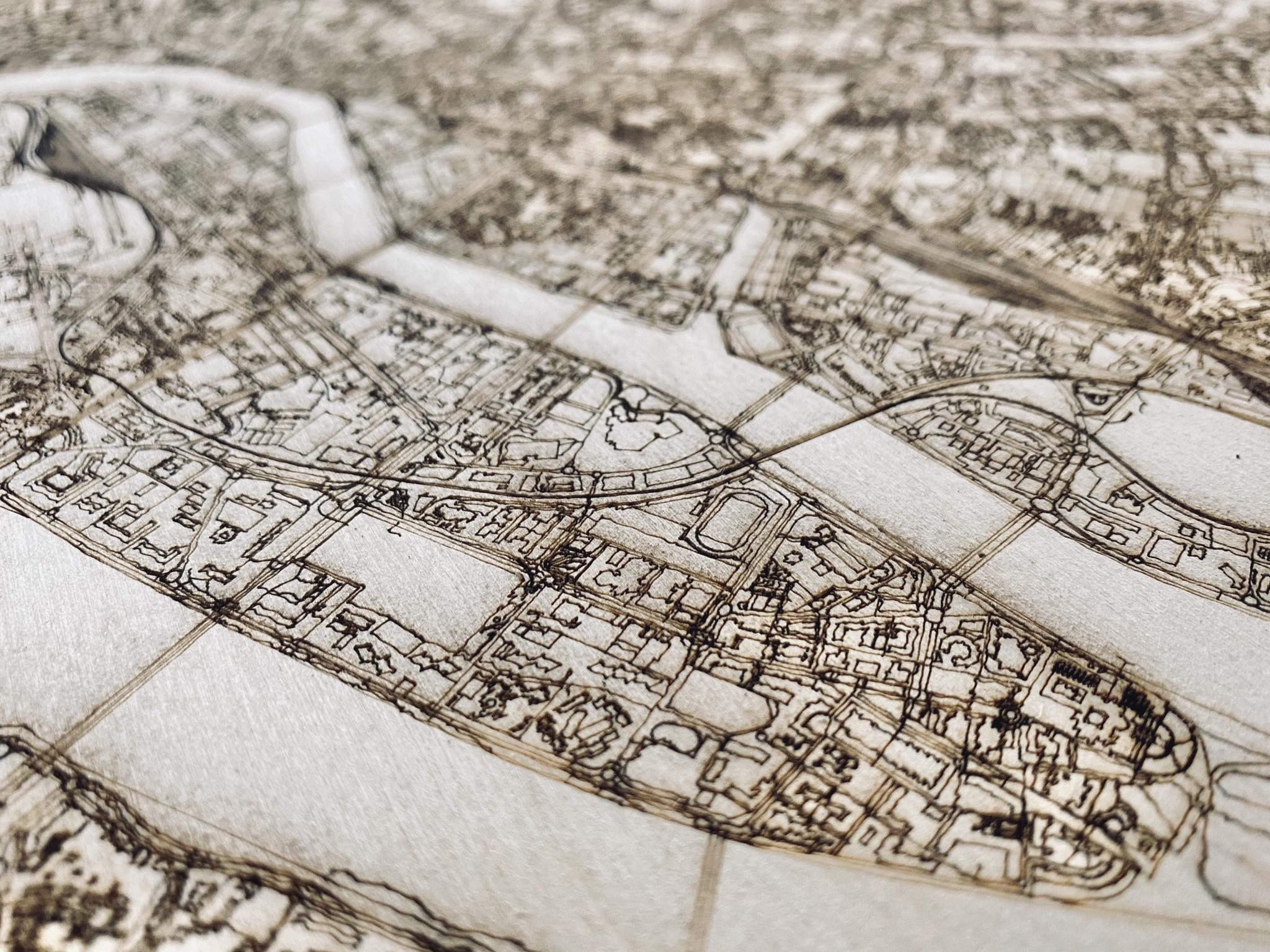 Citymap Nantes | wooden wall decoration-3