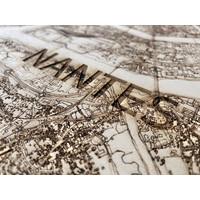 Citymap Nantes | houten wanddecoratie