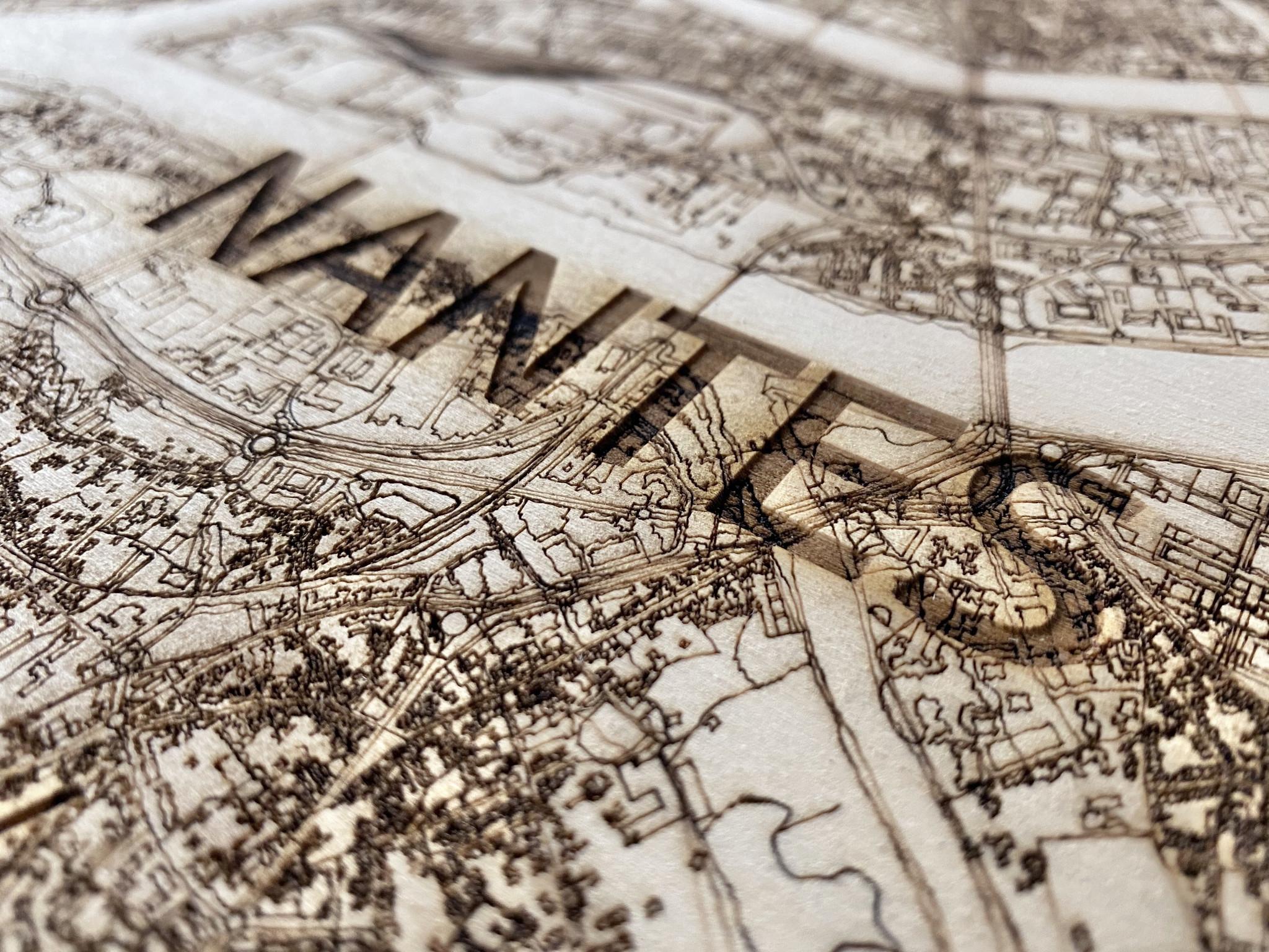 Citymap Nantes | wooden wall decoration-4