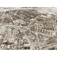 WOODEN WALL DECORATION ROTTERDAM CITYMAP