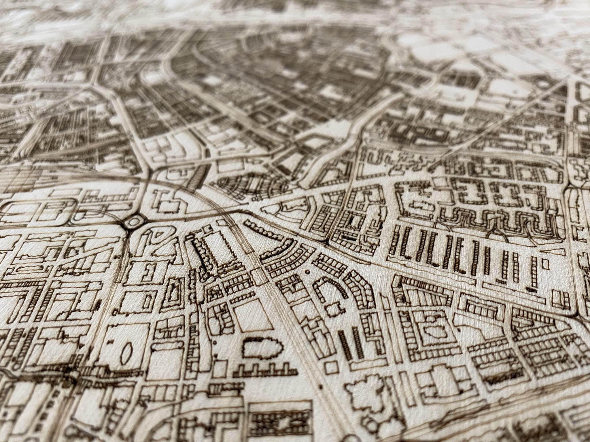 Citymap Rotterdam | Wooden wall decoration-5