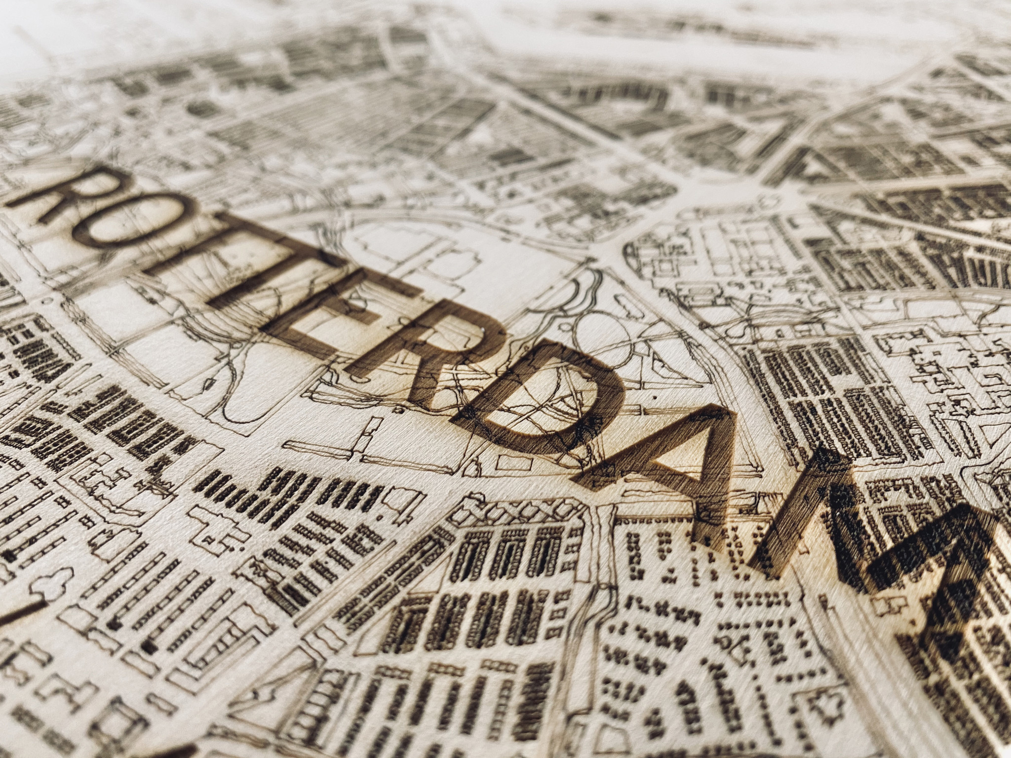 Citymap Rotterdam | Wooden wall decoration-4