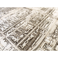 Citymap Hoorn | wooden wall decoration