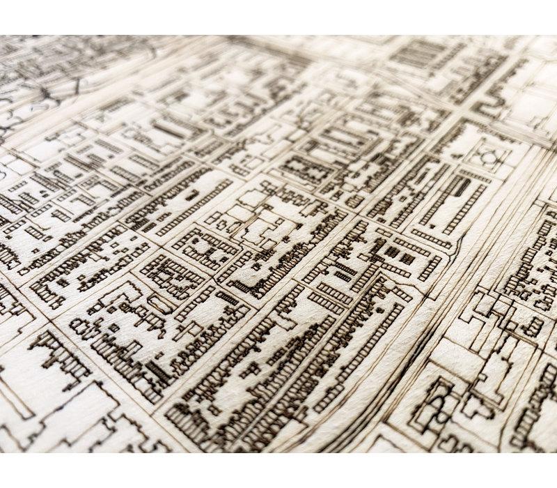 Stadtplan Hoorn   Wanddekoration Holz