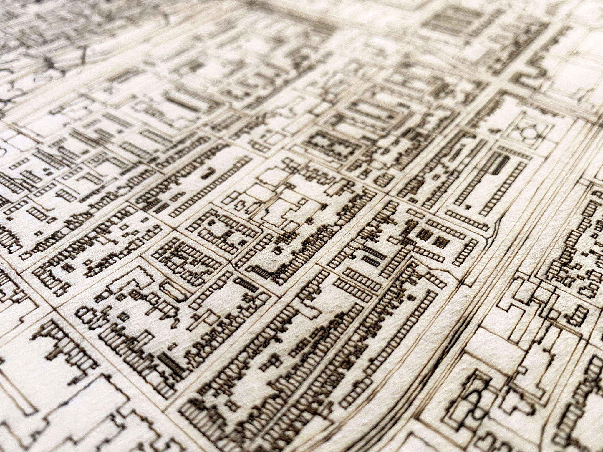 Citymap Hoorn | wooden wall decoration-4