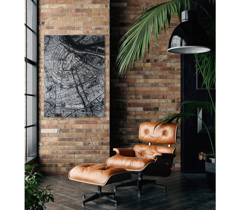 Citymap Amsterdam | Aluminum wall decoration