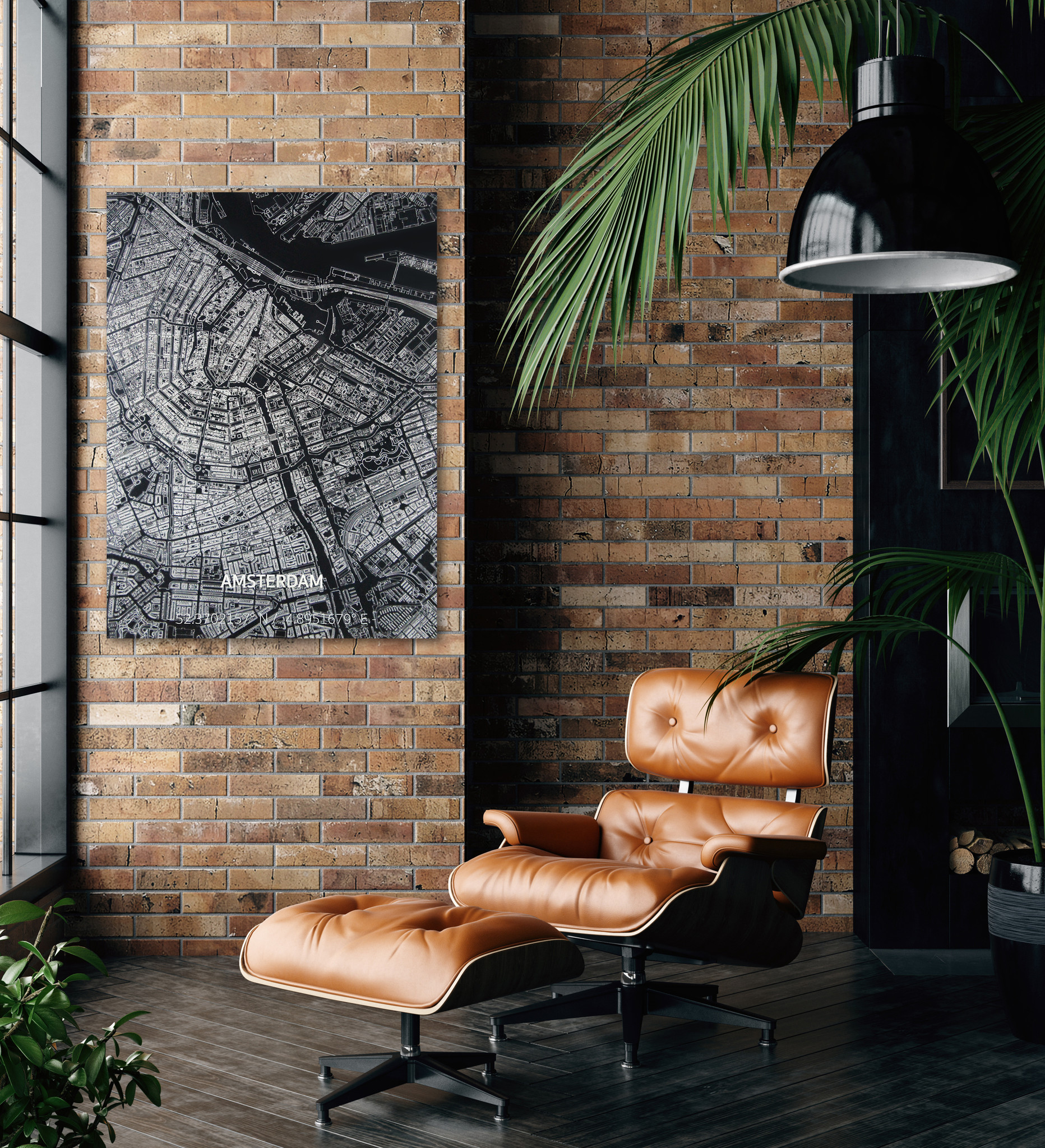 Citymap Amsterdam | Aluminum wall decoration-2