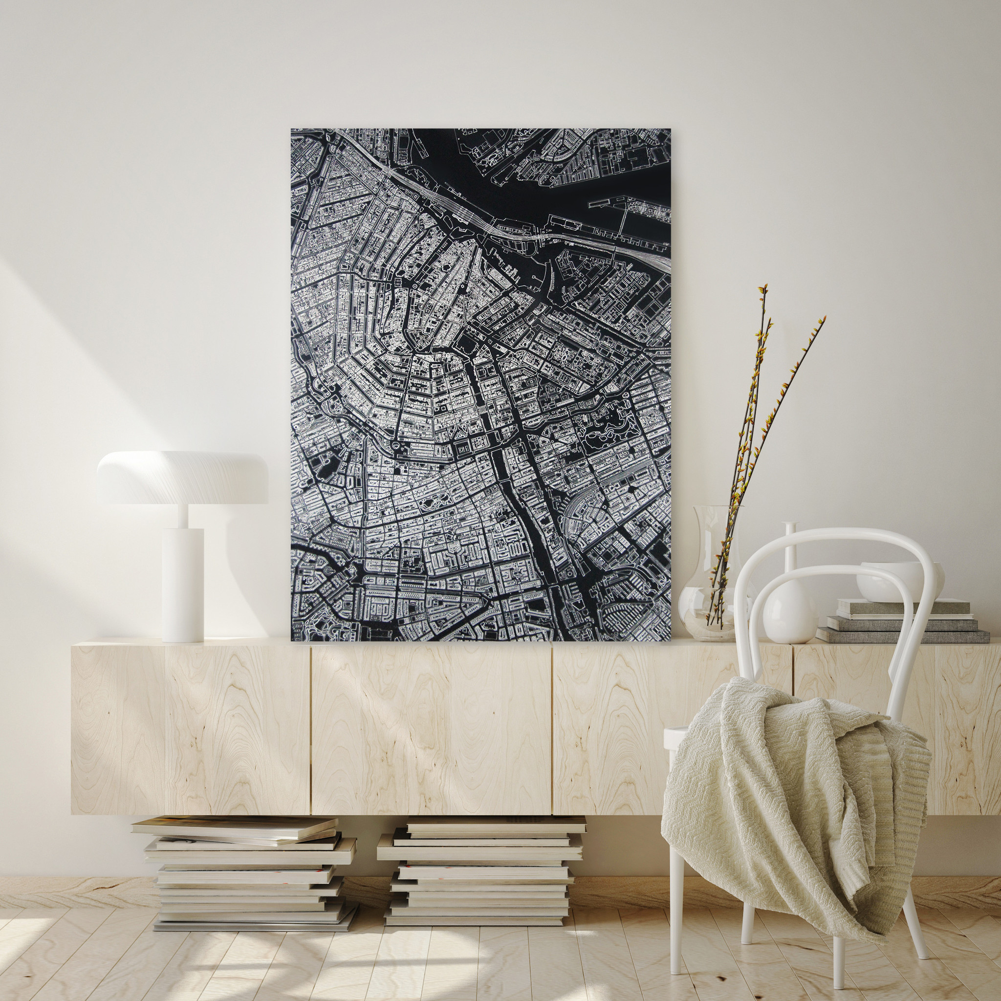 Citymap Amsterdam | Aluminum wall decoration-4