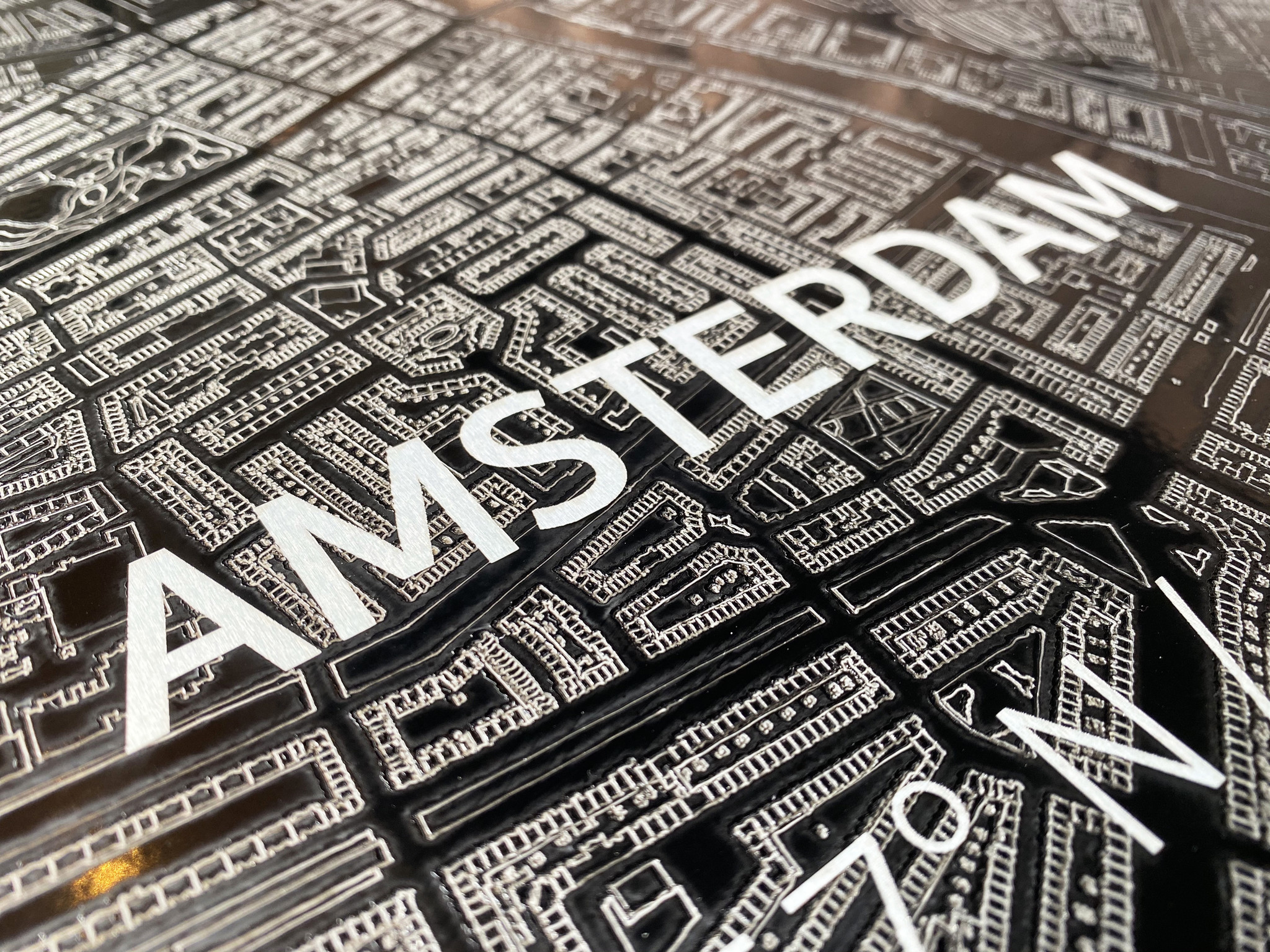 Citymap Amsterdam | Aluminum wall decoration-5