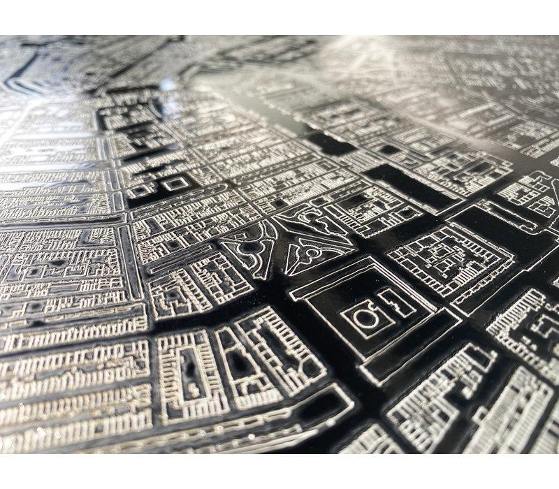 Citymap Amsterdam | Aluminium wanddecoratie