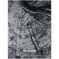 Citymap Amsterdam | Aluminium Wanddekoration