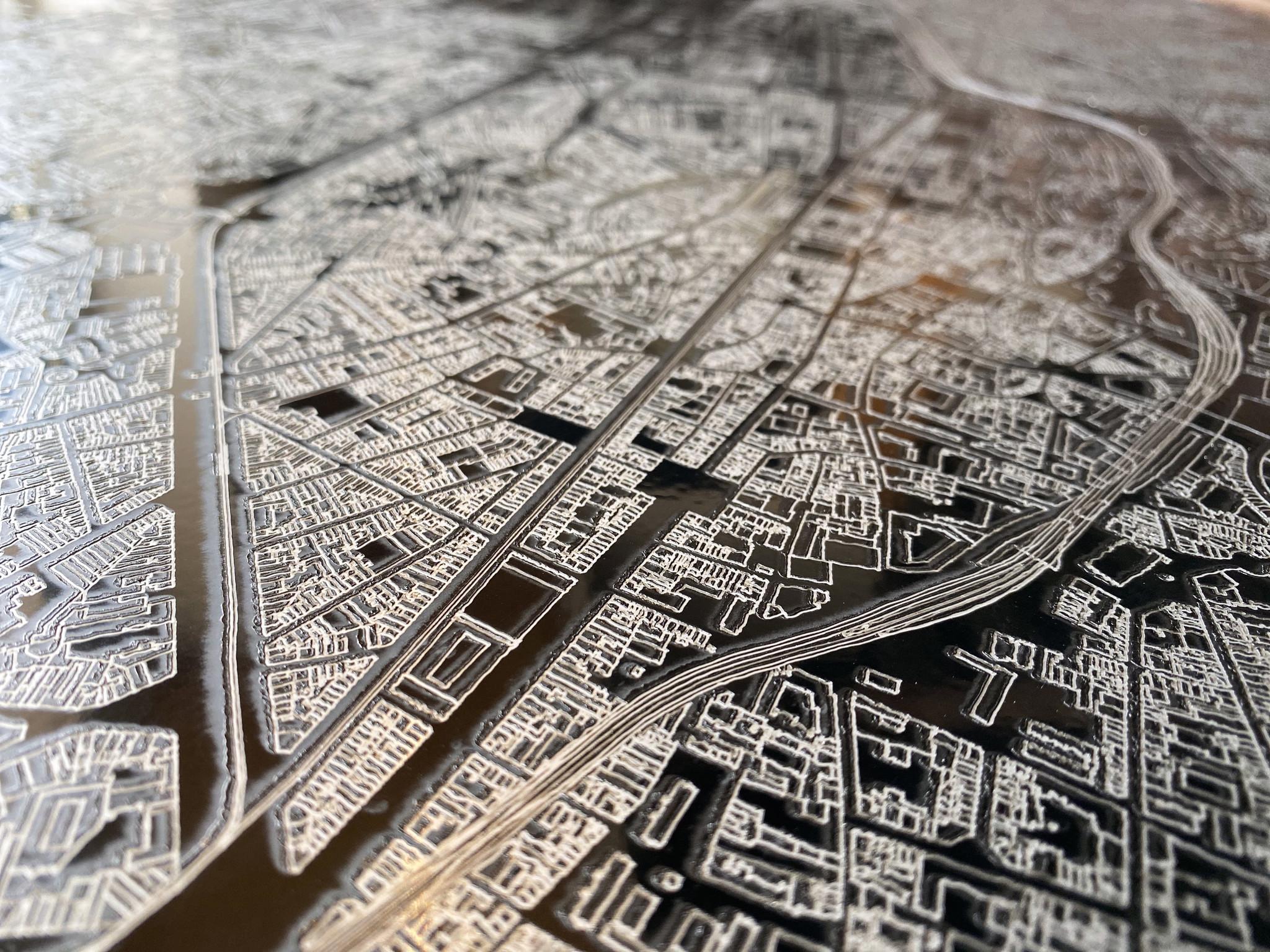 Citymap Brussels | Aluminum wall decoration-5