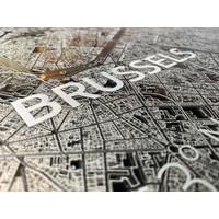 Citymap Brussel   Aluminium wanddecoratie
