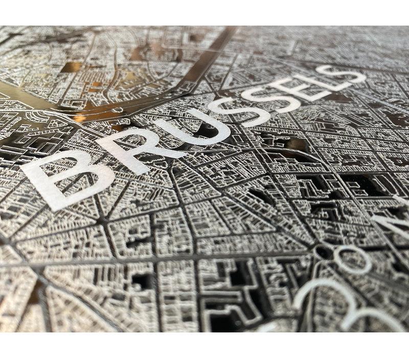 Citymap Brussels   Aluminum wall decoration