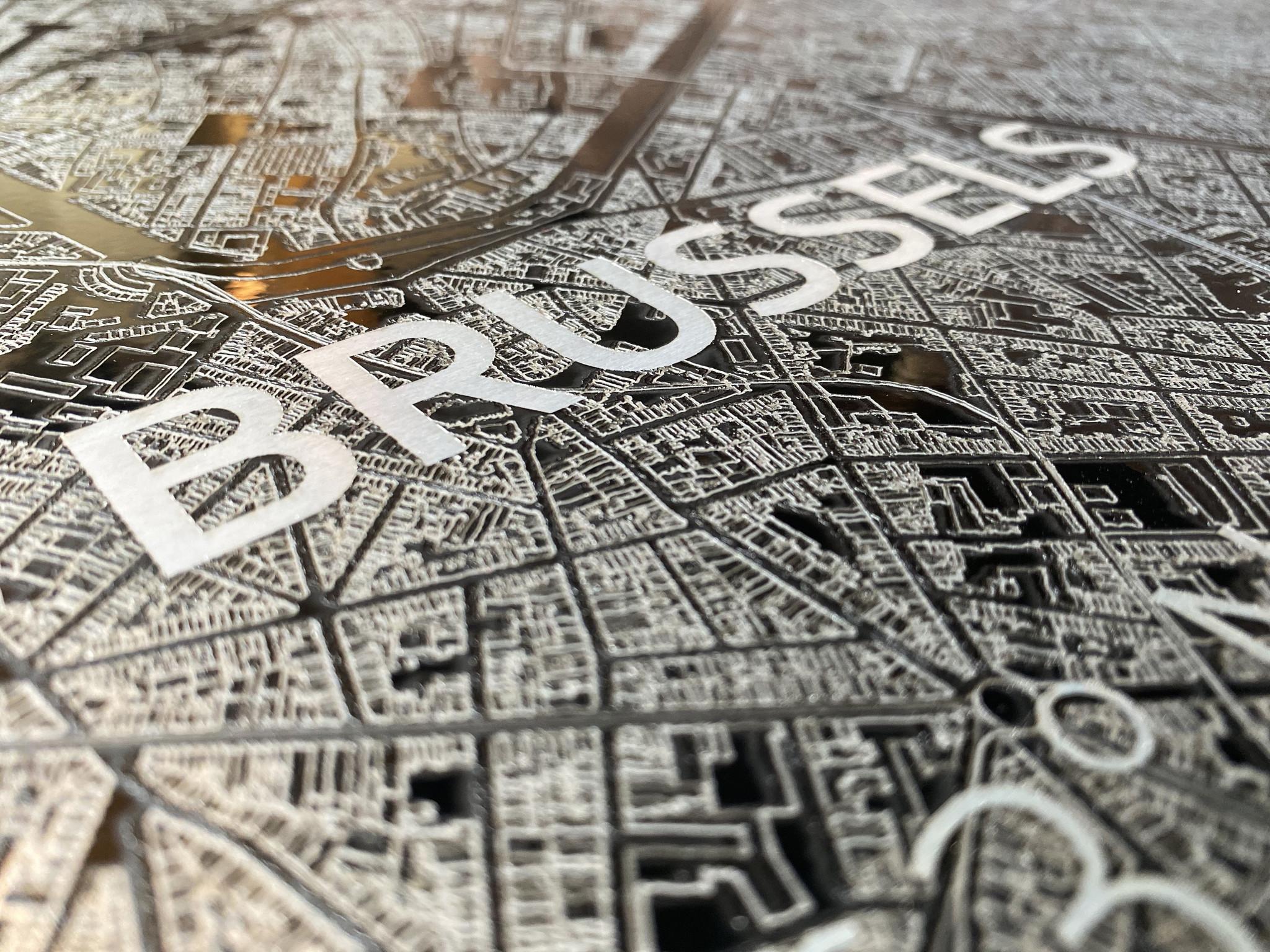 Citymap Brussels | Aluminum wall decoration-4