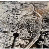 Citymap Brussel   Aluminium Wanddekoration