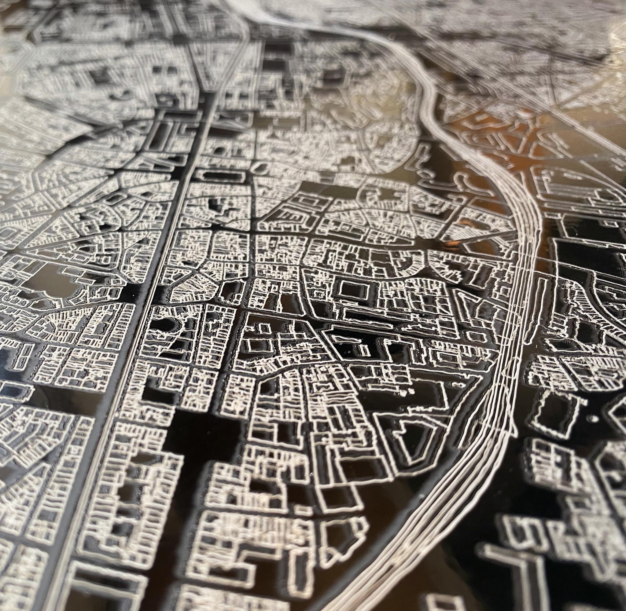 Citymap Brussels | Aluminum wall decoration-6