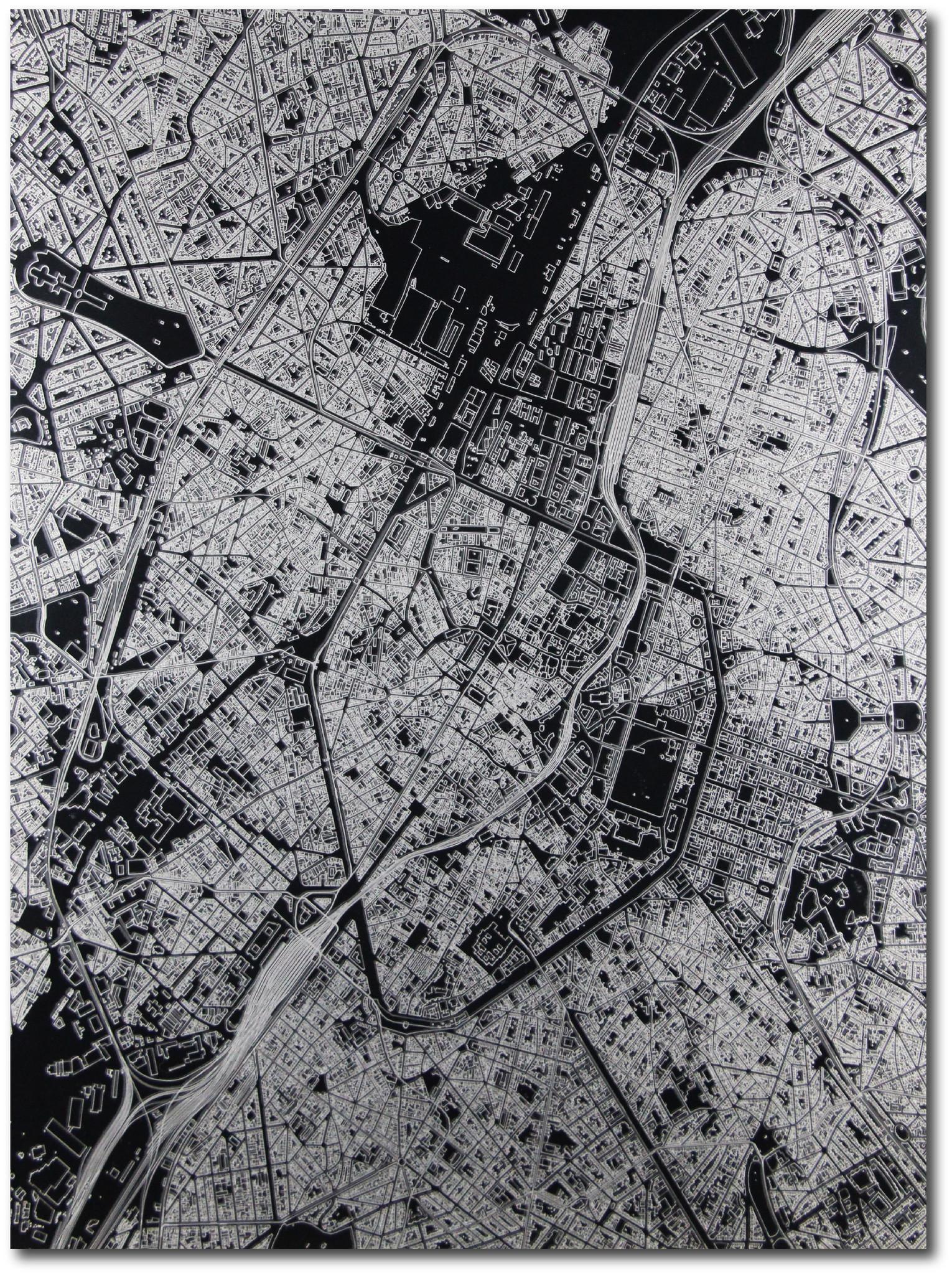 Citymap Brussel | Aluminium wanddecoratie-3