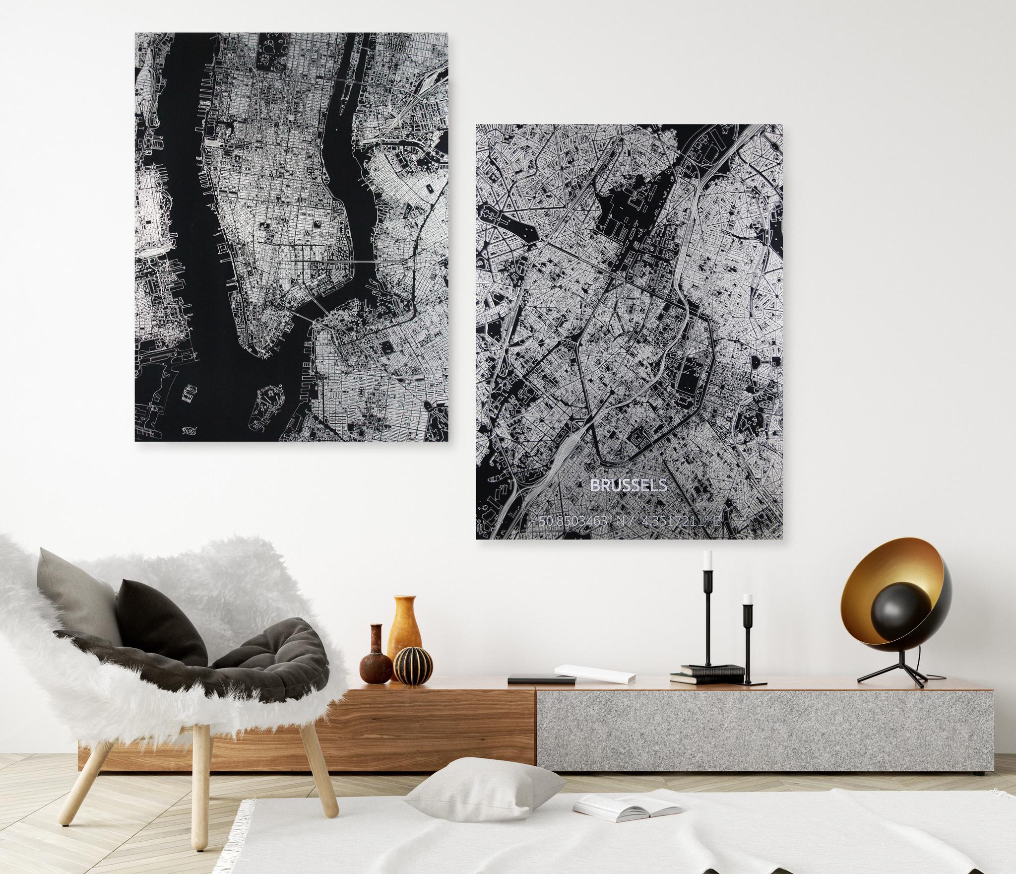 Citymap Rotterdam | Aluminium Wanddekoration-2