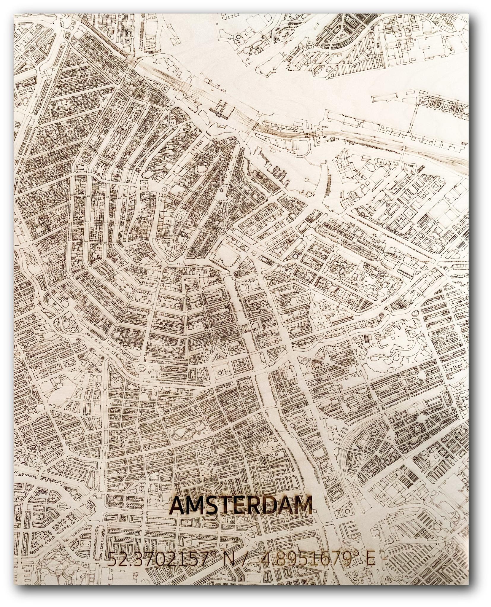 Citymap Amsterdam | houten wanddecoratie-1