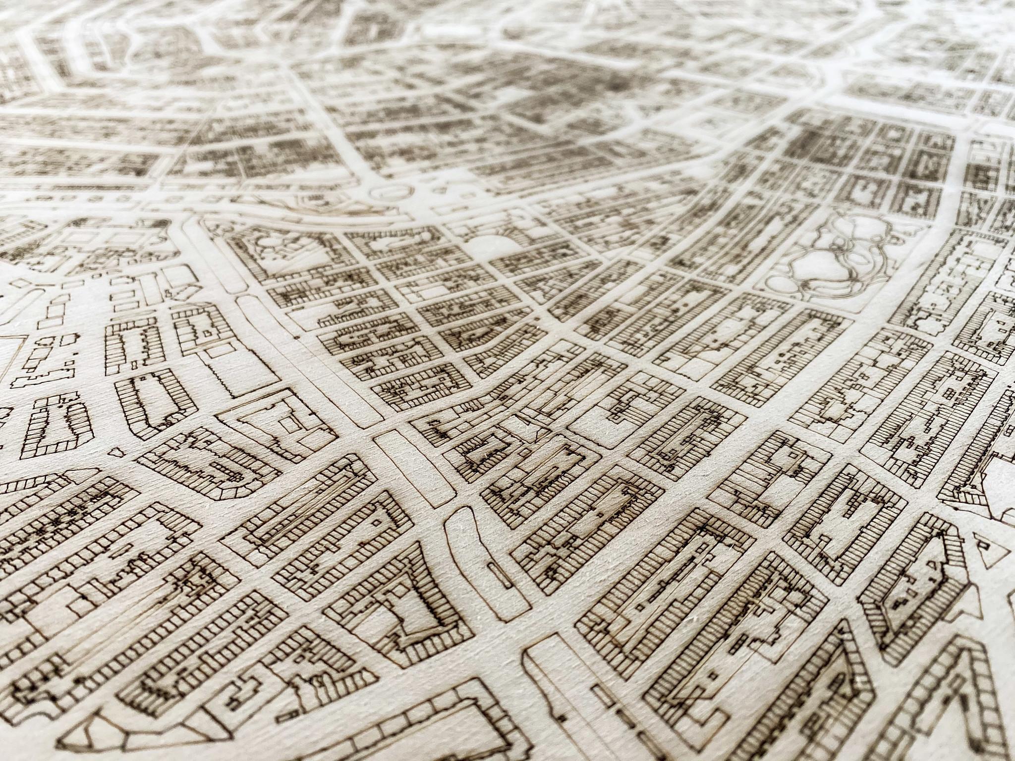Citymap Amsterdam | houten wanddecoratie-4