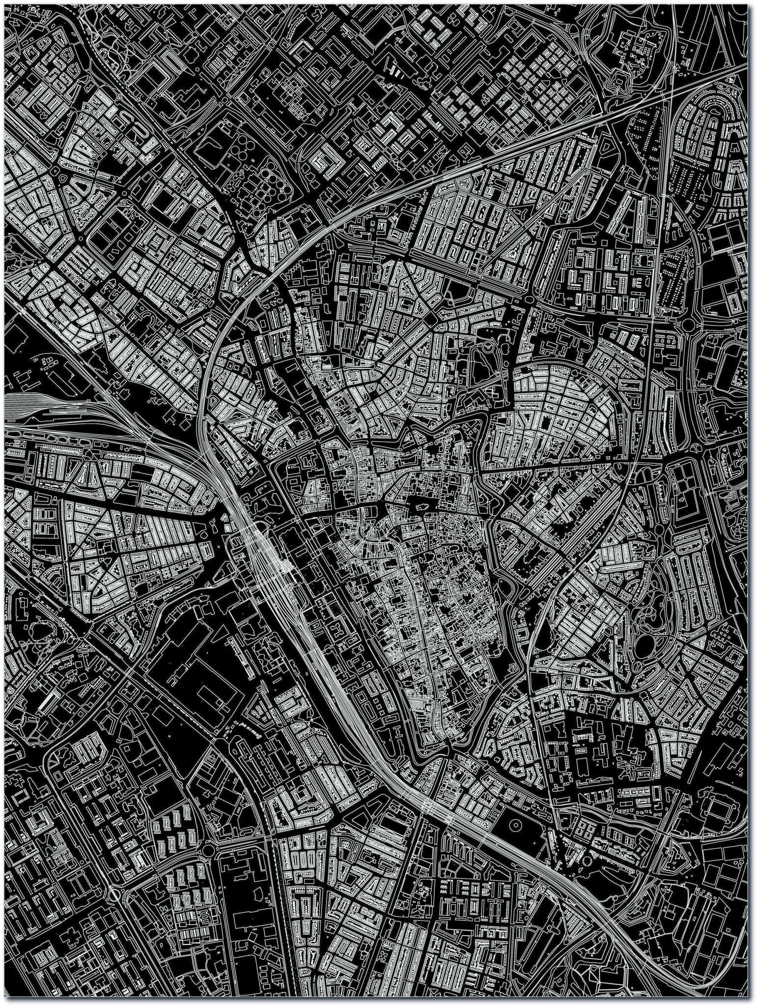 Citymap Utrecht | Aluminium Wanddekoration-3