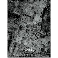Citymap Haarlem   Aluminium wanddecoratie