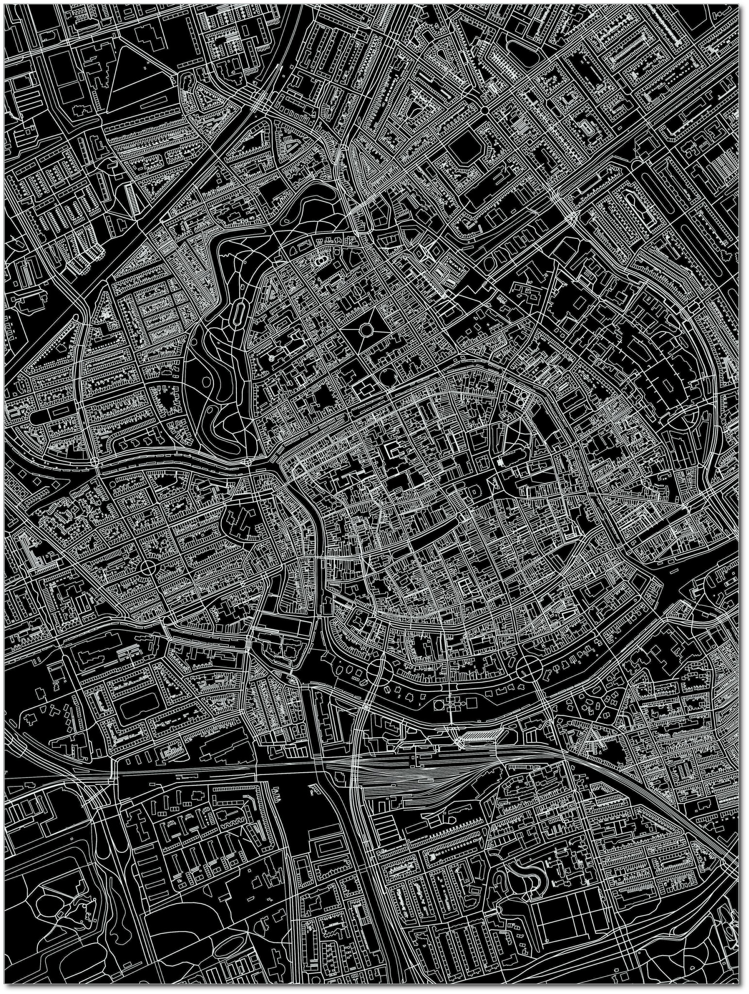 Citymap Groningen | Aluminium Wanddekoration-3
