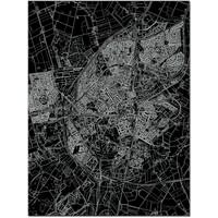 Citymap Assen   Aluminium Wanddekoration