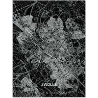 Citymap Zwolle | Aluminium Wanddekoration
