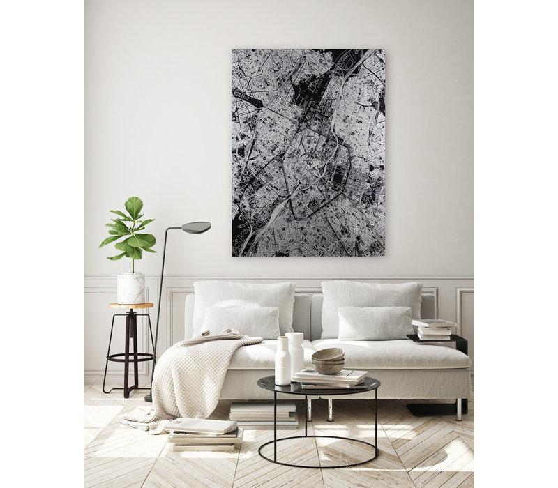 Citymap Lelystad | Aluminium wanddecoratie